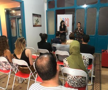 """Talk on """"collaboration"""" charge by Nadine Farghal"""